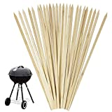 "Lavo Home 16"" Natural Bamboo Skewers for BBQ, Appetizers, Fruits, Cocktails (Bloody Mary), Kabobs, Chocolate Fountain Desserts, Grilling, Barbecues, Kitchen, Crafting and Parties. (50)"