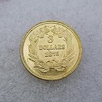 絶妙なコインアンティーク工芸品アメリカ18753ゴールドコインシルバーダラーシルバーラウンド外国貿易コレクション
