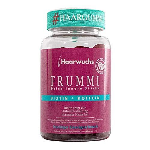 Frummi | Haarvitamine | fördert natürlichen und schnellen Haarwuchs | vermindert Haarausfall | vegan | hochdosiert (1)