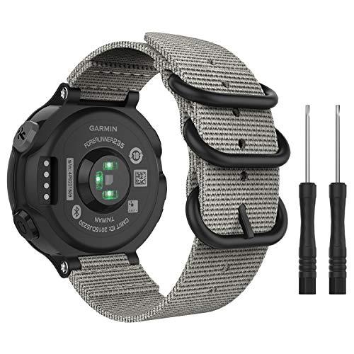 MoKo für Garmin Forerunner 235 Armband, NATO Nylon Uhrenarmband Ersatzarmband Strap für Garmin Forerunner 235/235 Lite/220/230/620/630/735XT, Armbandlänge 5.51