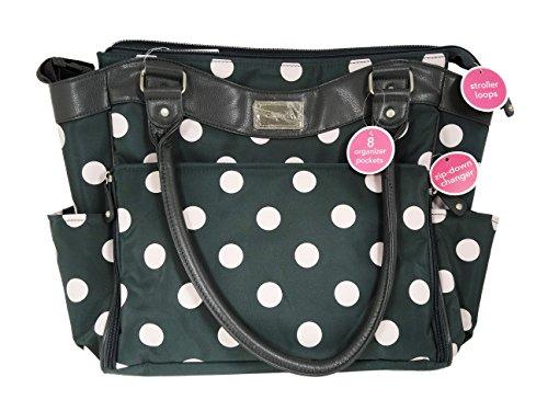 Carter's Dot Print Tote Diaper Bag, Grey/Pink