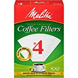 Melitta #4 Cone Coffee Filters, White, 100 Count (Pack of 12)