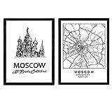Pack Poster Moskau - Basilius-Kathedrale. Blätter mit