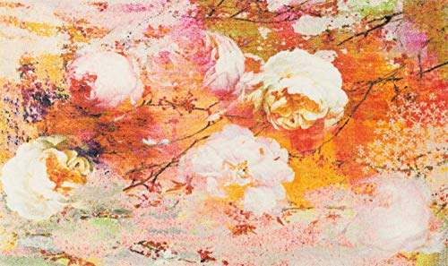 Wash + Dry Loving Rose Fußmatte, Acryl, orange, 70 x 120 x 0.9 cm