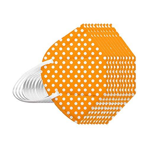 669 10/25/50/100 Stück Erwachsene_5 Lagige SchutzMaske(10, Orange)