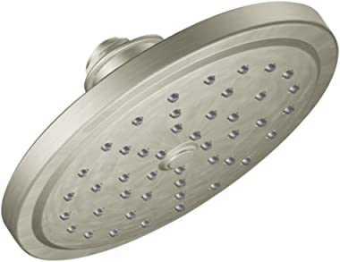 Moen S176BN 7-Inch Single Function Shower Head with Immersion Rainshower Technology, Brushed Nickel