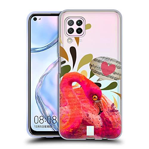 Head Case Designs Flamingo Collage Wilde Voegel Soft Gel Handyhülle Hülle Huelle kompatibel mit Huawei Nova 6 SE / P40 Lite