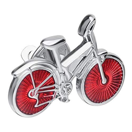 Hellery Brosche Pin Kupfer Bike Form Brosche Pin Schmuck Jacke Schal Kragen Tasche Geschenk Ersatz