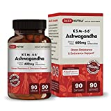 KSM-66 Ashwagandha by DailyNutra - 600mg Organic Root Extract - High Potency Supplement with 5% Withanolides | Stress Relief, Increased Energy and Focus (1)