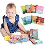 Lictin Soft Books for Babies - 8PCS Baby Cloth Book Set Baby Bath