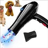 WYJW Esterilización BLU-Ray Secador para Perros 1800W Secador de Pelo Profesional para Mascotas Motor de Alta Potencia Potente Protección contra sobrecalentamiento de decibelios Bajos F
