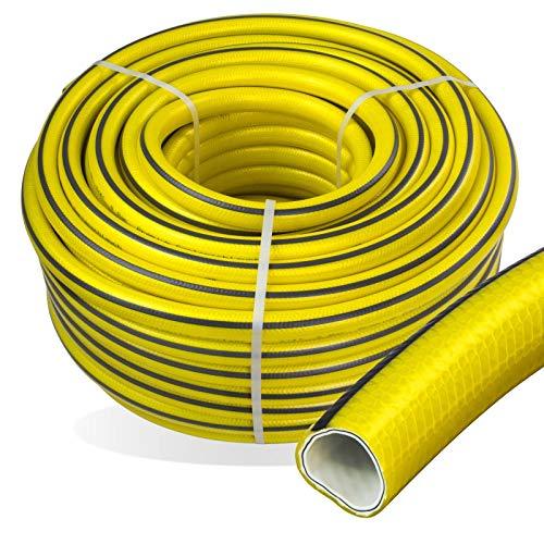 Stabilo-Sanitaer Premium Gartenschlauch Länge: 50m Durchmesser: 13mm 1/2 Zoll Wasserschlauch mit Trikotgewebe | knickfrei | verdrehungsfest