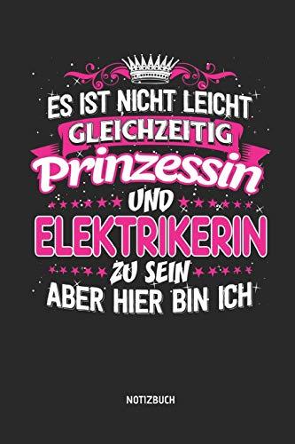 Notizbuch: Lustiges Elektriker Notizbuch mit Punktraster. Tolles Zubehör & Elektrikerin Geschenk Idee.