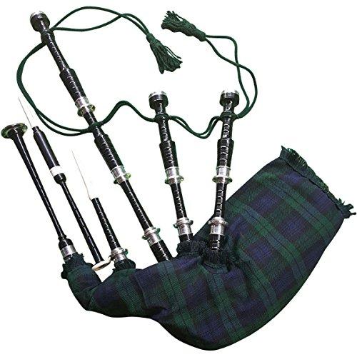 Gran Highland Gaita Palisandro Plata cantidades/Gaita Escocesa con estuche rígido