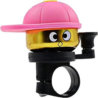 LIOOBO Kids Bike Bell Cute Bicycle Ring Bell Headlebar Bell Horn Bicycle Accessories for Kids Bicycle (Pink)
