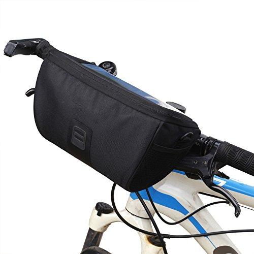 Bolsa de Manillar Frontal de Bicicleta Sawpy, Cremallera de poliéster, Bolsas de Mensajero multifuncionales, Funda de Bicicleta para teléfono con luz de Mapa