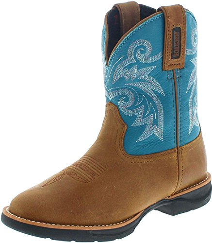 Rocky Boots Damen Cowboy Stiefel RKW0219 Westernreitstiefel Lederstiefel Braun 40 EU