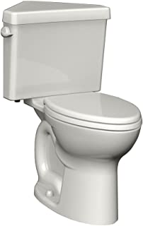 American Standard 270BD001.020 Cadet 3 Right Height Round Front Two-Piece Triangle Toilet with 12-Inch Rough-In, White