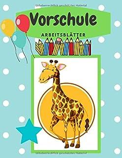VORSCHULE ARBEITSBLÄTTER: Lerne und übe in diesem schönen Heft, das Schreiben von Buchstaben und Wörtern. Buchstaben schre...