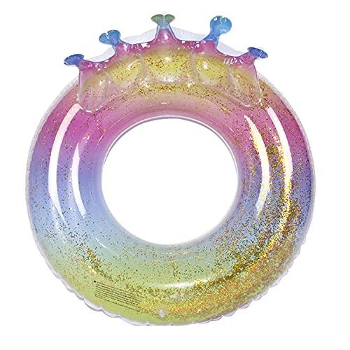 Gcxzb Schwimmreifen Schwimmring Sommer Pailletten Swim Ring Erwachsene Verdickung Erhöhen Sie Achspit Schwimmen Ring 100 cm Mädchen Krone Schwimmring (Color : 1, Size : A)
