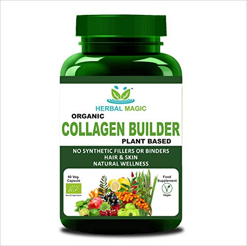 Certified Organic Plant Based Collagen Veg Capsules - Super Boost 100% Fruit & Veg Mix Formula - Vitamin C, Folate, Biotin, No Bulking Agents/Synthetic extracts/preservatives