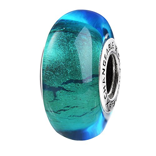 CHANGEABLE Murano Charms Bead da Donna Argento Sterling 925 - Guardando in Futuro