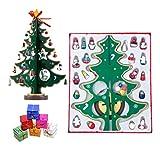 Albero di Natale artificiale in legno in miniatura, con decorazione per la casa di Natale, scatole regalo originali (confezione da 1)