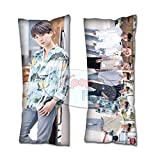 Cosplay-FTW Kpop Kpop BTS in LA 2019 Suga Body Pillow Peach Skin Cotton Polyester Blend 40cm x 100cm (Set of 1, CASE ONLY)