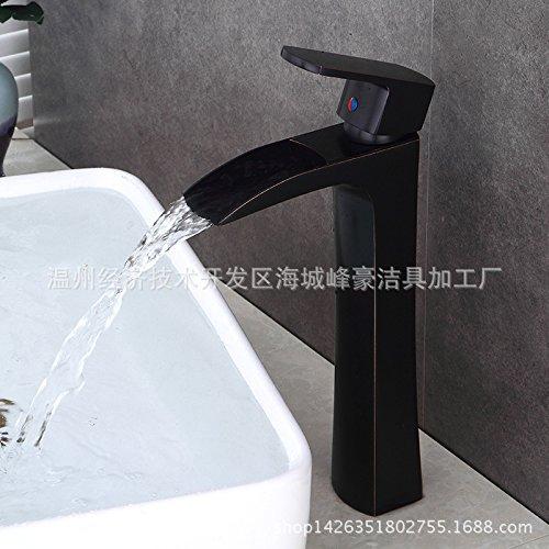 Maifeini _ caliente y frío grifo de cobre sobre encimera lavabo grifo de lavabo caliente y frío continental caídas