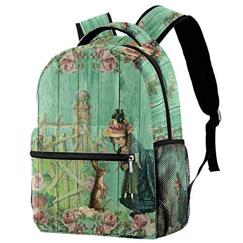 Cute Girl Personalised School Bag for Boys and Girls - Kids School Backpack - Childrens rucksacks for Boys and Girls