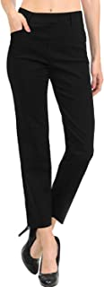 Women's Straight Fit Trouser Pull-On Pants | 4 Styles Long/Short/Capri/Ankle
