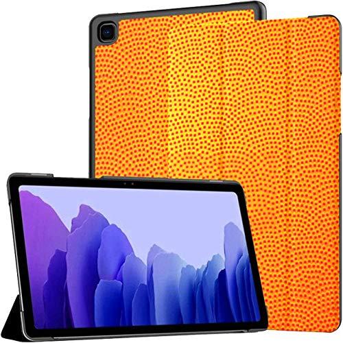 Funda para Samsung Galaxy Tab A7 Tableta de 10,4 Pulgadas 2020 (sm-t500 / t505 / t507), Pelota de Baloncesto, Cuero, patrón, Fondo, Vector, Soporte de ángulo múltiple, Cubierta con activación/suspe