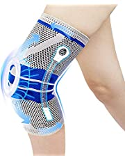 ENYEE Knee Brace,Knee Compression Sleeve Support with Patella Gel Pad & Side Spring Stabilizers,Medical Grade Knee Protector for Running,Meniscus Tear,Arthritis,Joint Pain Relief,ACL
