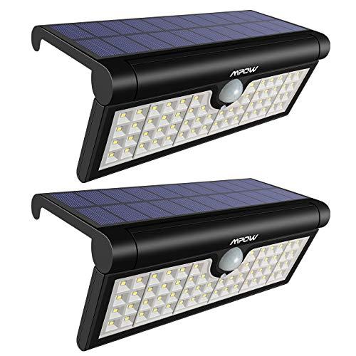 Mpow 58 LED Solar Leuchte Faltbarer Bewegungssensor Solarleuchte Solarlicht, Außenbeleuchtung,Wandleuchte, 120 ° Betrachtungswinkel, wetterfest Licht für Camping,Garten,Fahrstraße,Hof,Garage-2 Stück