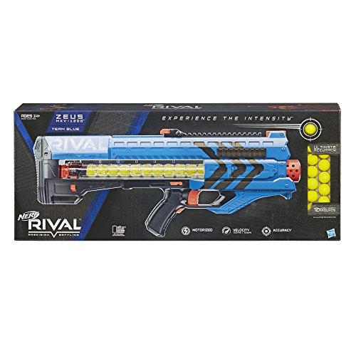 Nerf Pistola de Bolas, (Azul) Rival Zeus MXV 1200
