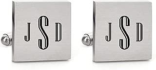 Mens Cufflinks Engraved Initial Monogram Alphabet Letter Cufflinks Formal Wedding Shirts Jewelry