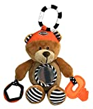 HARLEY-DAVIDSON Honey Bear 9 in. Newborn Sensory Plush Toy, Brown 9950833