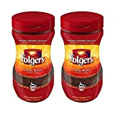 Folgers Classic Roast Instant Coffee Crystals, 16-Ounce Jar - Pack of 2