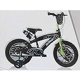 Dino Bikes MISSING BOTTLE CAP 16' Inch BMX Black/Green Kids Children Unisex Speed Bike Bicycle New