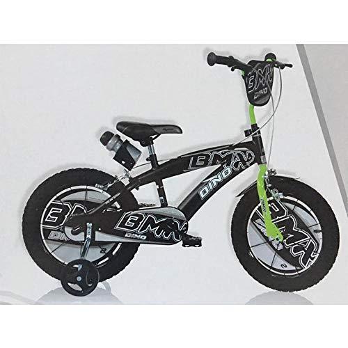 Dino Bikes Bicicletta BMX 14' Nero-Verde - Bici Bambino