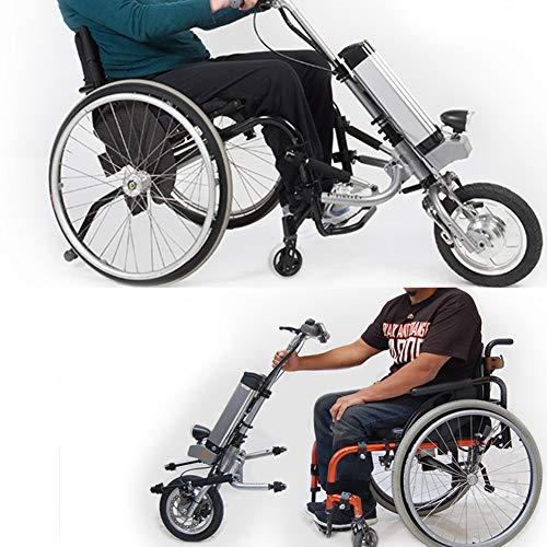 51erJiSBtDL - GMtes Silla de Ruedas eléctrica Adjunto handcycle Silla de Ruedas, Terapia de rehabilitación eléctrica Kit de conversión de Silla de Ruedas para Mayores Discapacidad,11.6Ah
