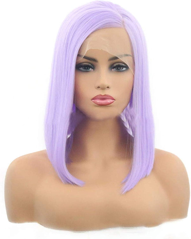 KERVINFENDRIYUN YY4 purple Bobo Kurze Haare Perücken Damen Schnalle Perücke Schnalle (color   Purple, Size   22 inches)