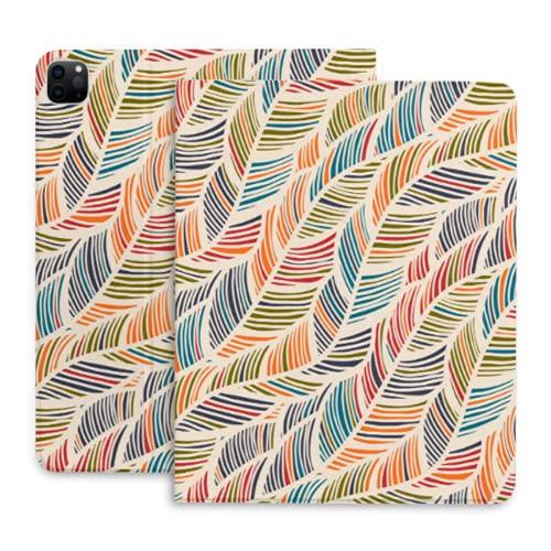 Funda para Tableta de decoración del hogar con Plumas de Hoja para Funda para iPad Pro 11 con portalápices Compatible con iPad 2020 Pro 11 12,9 Pulgadas