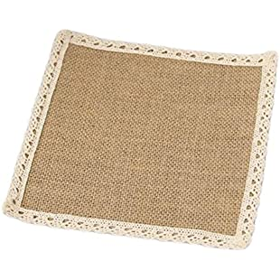Leisial 1 X Linen Coaster Heat Resistant Bowl Mat Heat Insulation for Protect Table Kitchen Dinning Room Restaurant (11*11 CM )