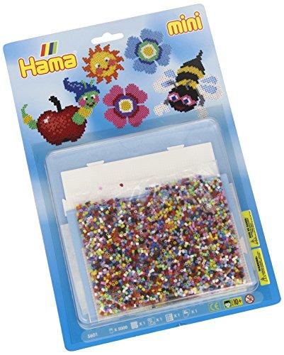 Hama 5601 Bügelperlen Mini, ca. 5000 Stück, inklusive Stiftplatte Viereck und Zubehör, Frühling, Mehrfarbig