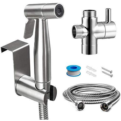 FANHAO Bidet Sprayer for Toilet and Baby Cloth Diaper Sprayer, Stainless Steel Bathroom Jet Sprayer Kit Spray Attachment with Hose, Easy Install