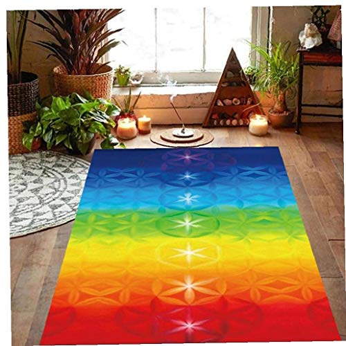 NiceButy Rainbow 7 Chakra Mandala Bohemia Manta Mat Tapiz Toalla De Playa del Verano Yoga