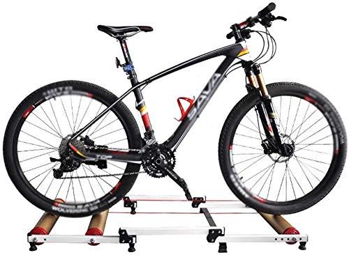 L&WB Entrenamiento Bicicleta Destacan Rodillos Formadores Cubierta De Bici Inicio Ejercicio Turbo Entrenando Aplicable 24-29 Pulgadas Bicicleta De Montaña/Bicicleta De Carretera 700C,Oro