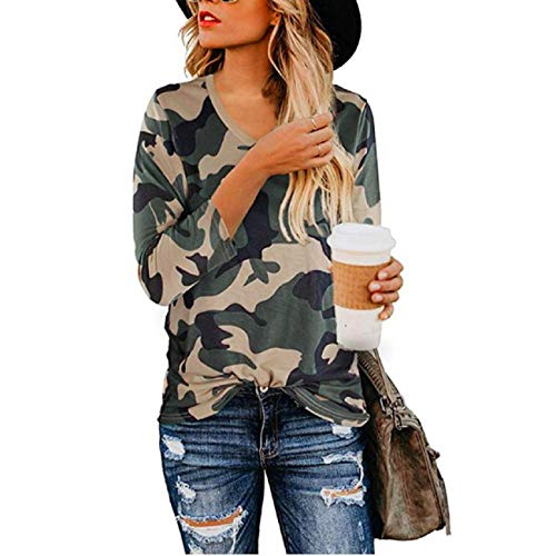 Discover Bargain Adreamess Women's Casual Cute Tops Leopard Print T-Shirt Basic with Crewneck Long S...