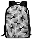 Mochila Impresa En 3D,Mochila Escolar con Estilo,Mochila para Adultos Black Diamond Lattice Mochila De Viaje Ligera Mochila Unisex con Estampado Completo Mochilas para Adultos De Moda
